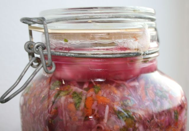 lacto-fermentation in jar