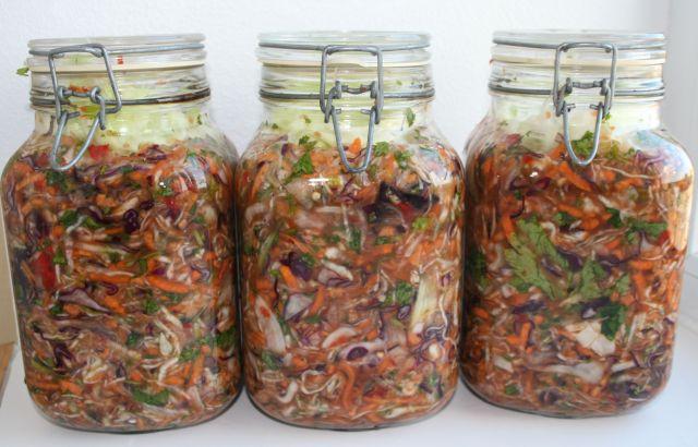 Fermenting in jars