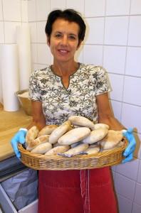 Sourdough bread in basket