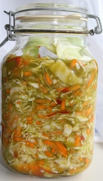 Homemade fermented vegetables