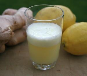 Ginger lemon shot