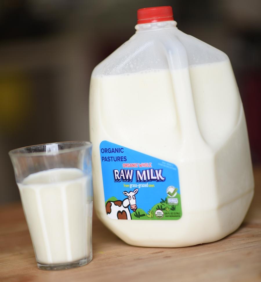 Raw milk bottle