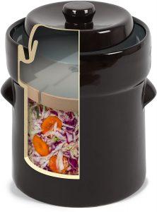 Fermentation crock jar